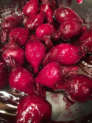 Beets added back to glaze.