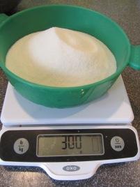 300 g of sugar.