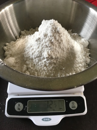 12.5 ounces cake flour.
