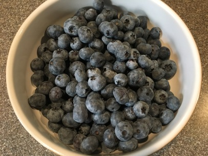 1 1/2 C fresh blueberries.