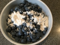 Blueberries tossed with 1 T of dry ingredient mixture.