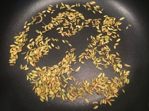 Toasted fennel seed.
