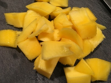 Chopped mango.