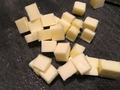 Cubed butter.