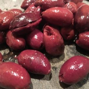 Kalamata olives.