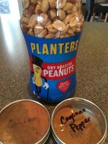 Peanuts, cinnamon, and cayenne.