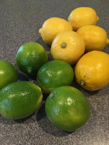 Limes and lemons for juice and zest.