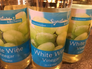 White wine vinegar.