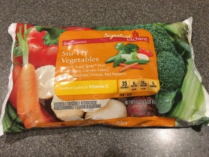 A pound of frozen vegetables.