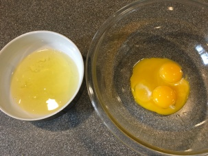 4 eggs, separated.
