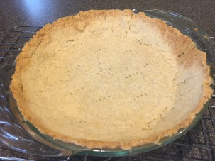 Golden pie crust.