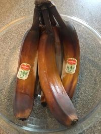 Thawed bananas.