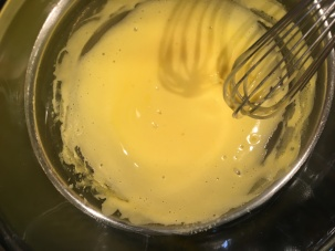 Yolks after whisking for 3-5 minutes.