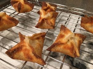 Fried wontons.