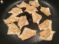 Potstickers after cooking.
