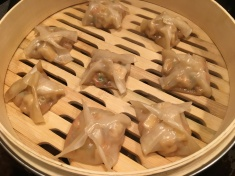 Dumplings after steaming.
