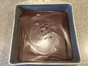 Ganache after refrigerating for one hour.