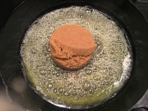 Brown sugar added to butter.