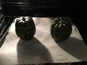 Squash into the oven for an hour.