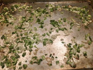 Veggies after roasting for 25 minutes.