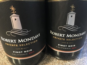 Two bottles of Pinot Noir.