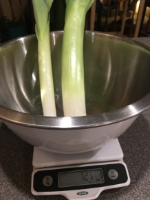 12 ounces of leeks.