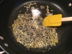 Lemon juice, honey, Kosher salt, and pepper added to the pan.