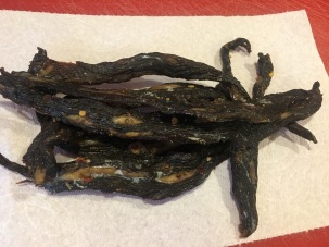 Four ounces of homemade jerky.